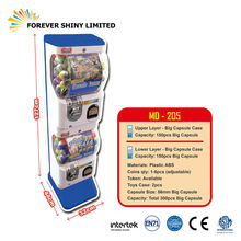 Promotional Arcade Gashapon Dispenser Plastic Coin Operate Mini Small Capsule Toy Vending Machine