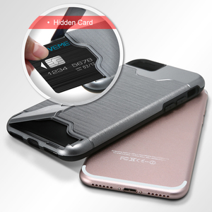 Premium quality card slot heat proof tpu pc phone case for iphone 8 plus case