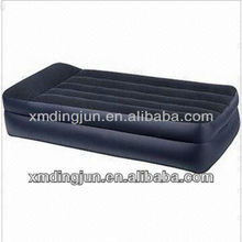 Raised Inflatable Air Bed,Double Layer and 500-piece MOQ, black raised air bed