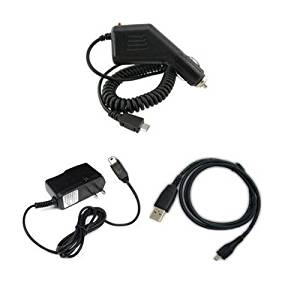Fosmon Travel Charger + Micro USB Cord + Car Charger works with Motorola Droid Razr Maxx