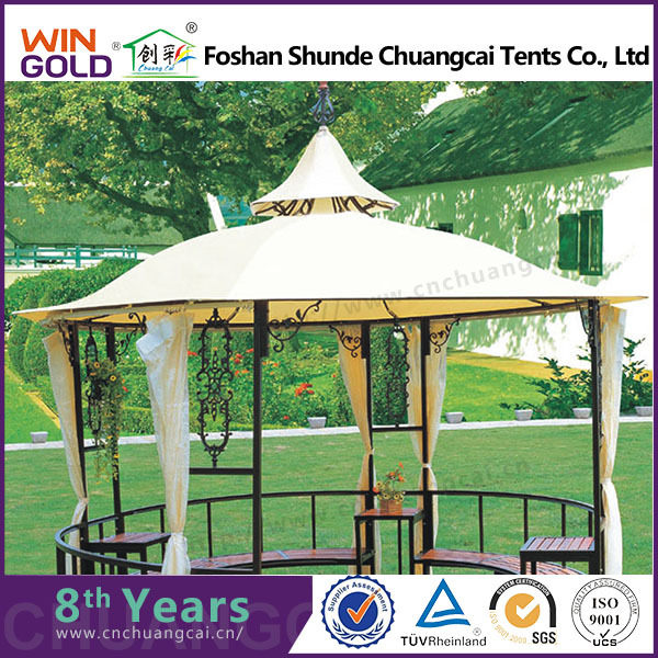 Made in china rain resistant steel gazebos for sale