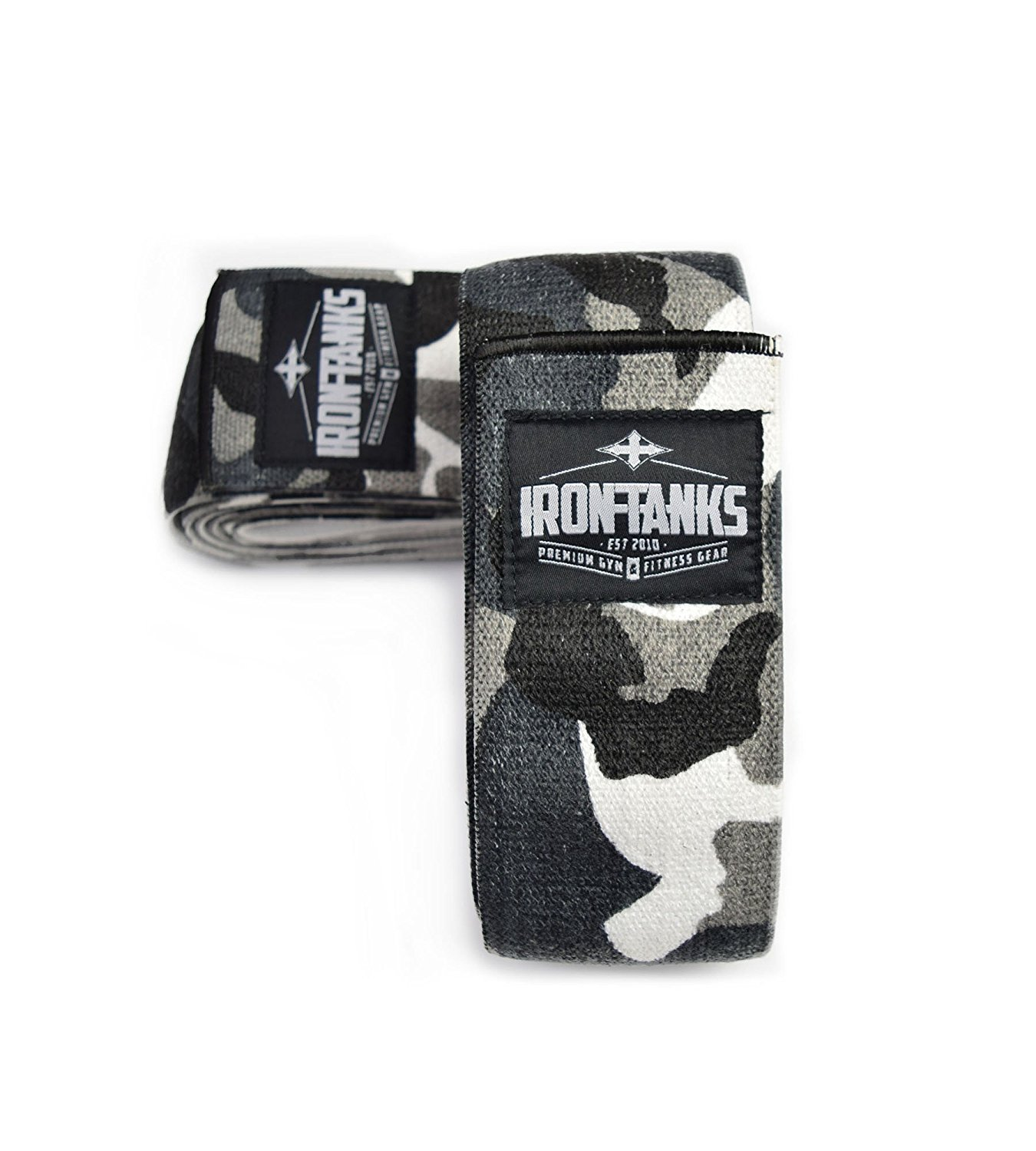 Iron Tanks Heavy 2.5M Urban Camo Knee Wraps - Bodybuilding Powerlifting Weightlifting 2.5 Metre / 98""