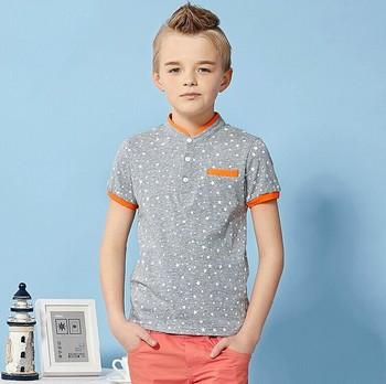 cbfdf998 2015 summer fashion design pure cotton British stand collar kids clothes  latest short sleeve floral versatile