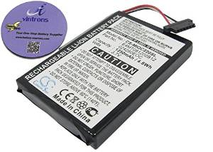 vintrons (TM) Bundle - 1250mAh Replacement Battery For CLARION MAP 770, MD95949, + vintrons Coaster
