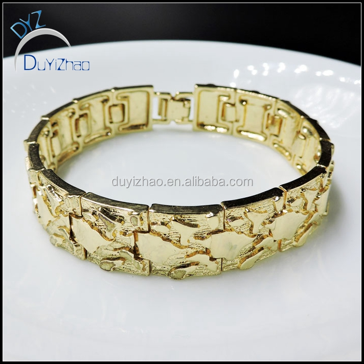 new design hip hop gold link bracelets designs men