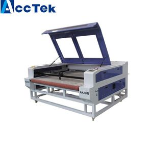 Cloth Garment Textile Automatic feeding laser cutting machine laser cutter for shape made