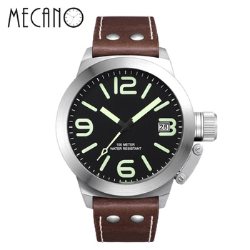 Army Military Style Luminous Face Custom Logo Pilot Watch for Cool Men 2018