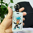 Free Sample Acrylic Custom Luggage Tag Hotel Luggage Tag Cheap Plastic Cartoon Travel Luggage Tag CMYK Printing CNC Laser Cut