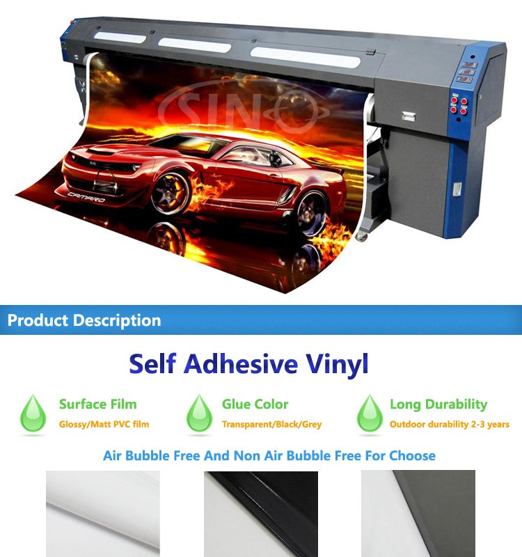 Outdoor Advertising Poster Materials Digital Silkscreen Printing Self Adhesive Vinyl Roll