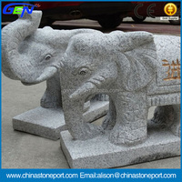 Best Sale Natural Elephant Stone Carving For Park