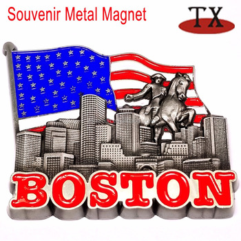 Paul Revere Flag Boston City Tourist Souvenir 3d Fridge Magnet - Buy ...