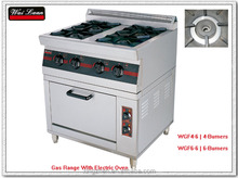 gas range with electric oven