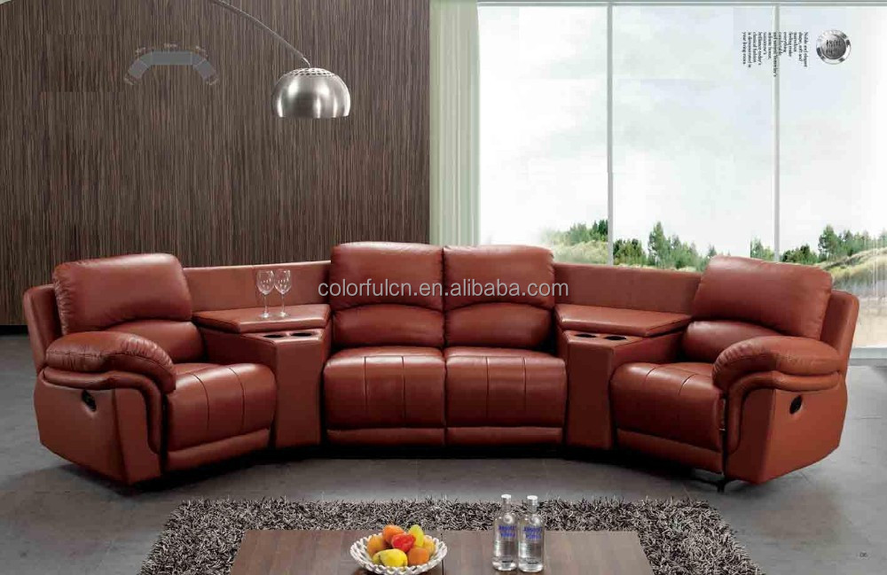 Recliner Sofa With Coffee Table For Home Solan Hotel 4 Seats Sofa