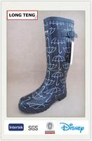 [umbrella design] balck boots for women wellies rain boots cheap rubber boots