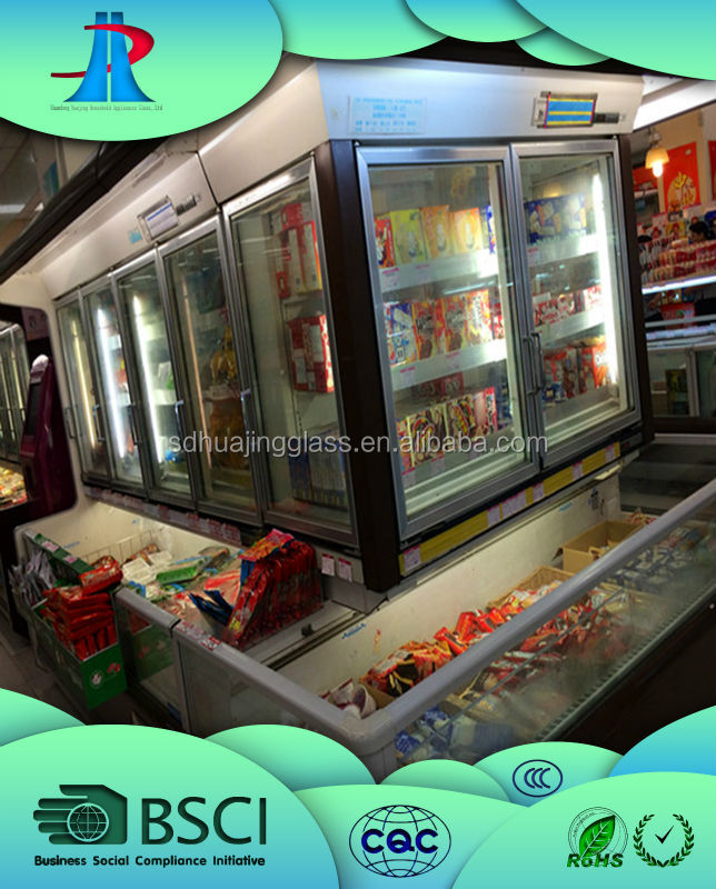 household appliances commercial glass door display refrigerator