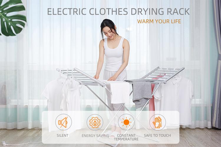 EVIA pieghevole in alluminio portatile vestiti di essiccazione elettrico cremagliera