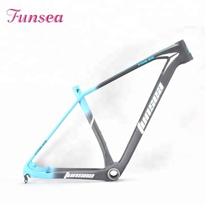 Funsea China High-quality aluminum materials OEM ODM T700 carbon fiber downhill mountain bikes bicycle frame mtb carbon frame