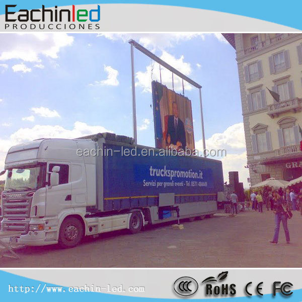 Outdoor mobile p6 moving billboard, led display advertising vehicle
