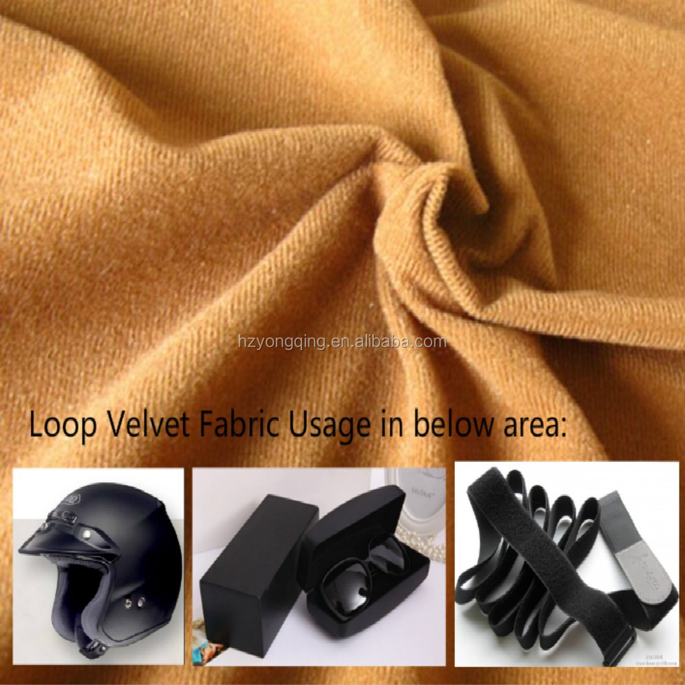 100% Polyester Loop Brushed Tricot Lining Pile Loop Velvet Pile Fabric for Sofa