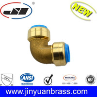 Lead Free Brass Push Fit Reducing pipe fitting Tee 1/2