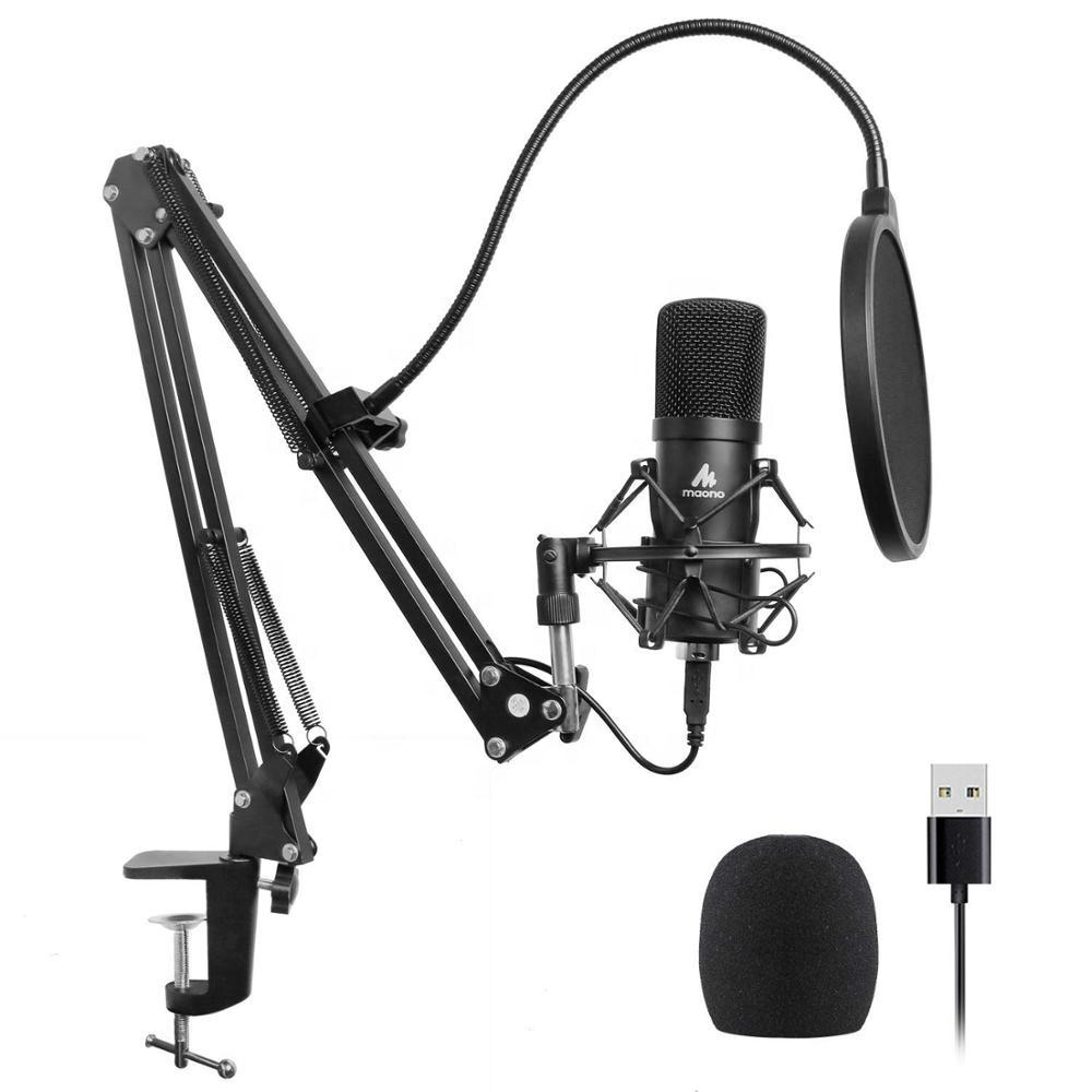 Professional noise canceling electret condenser microphone studio