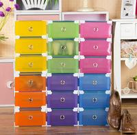 New designs simple style plastic transparent drawer storage box for shoe