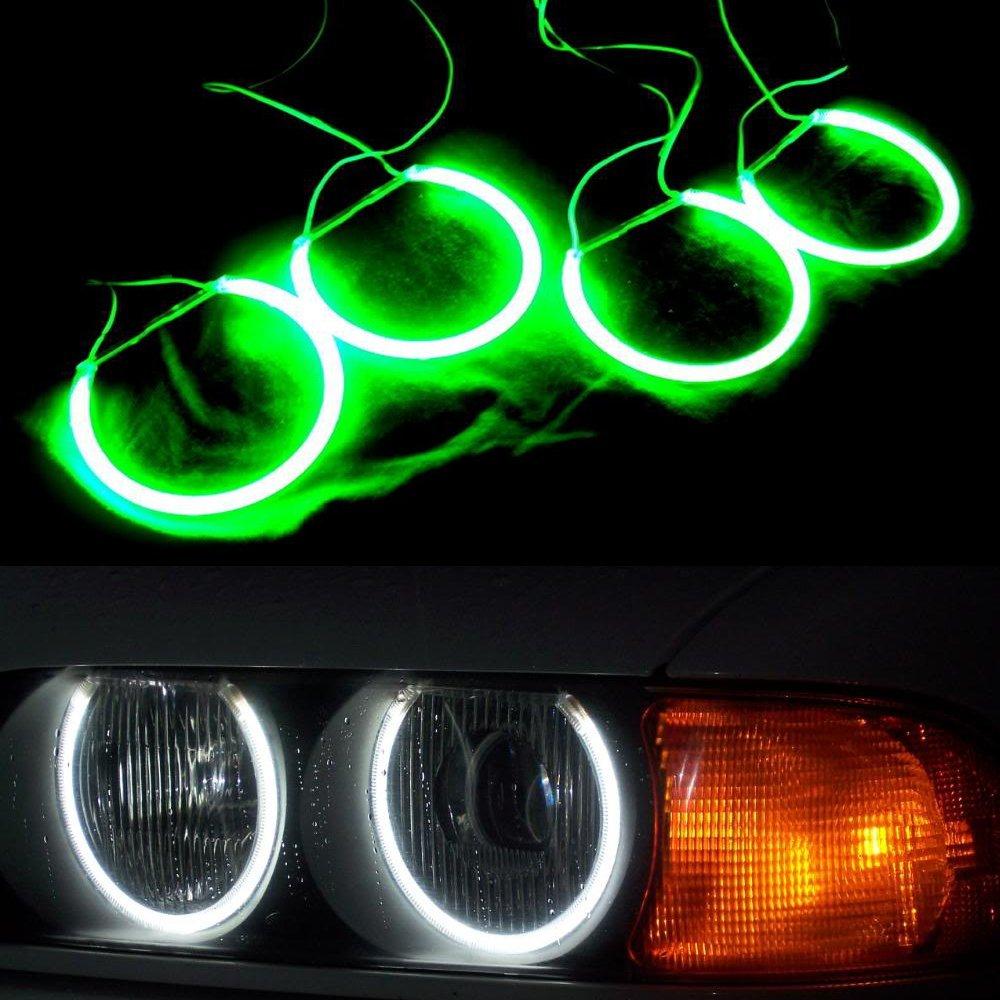 Nslumo 7000k Ultra White Ccfl Angel Eyes Halo Rings for BMW E53 X5 Car Light Angel Eyes Kit (4 Rings + 2 Inverters)
