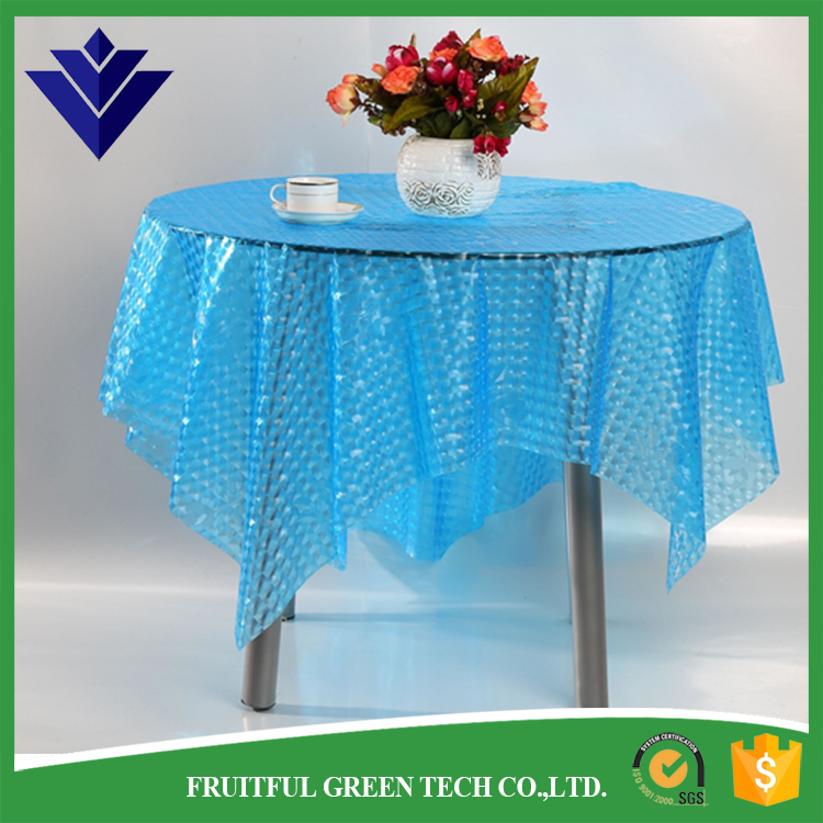 plastic transparent rubber square table cloth