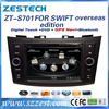 Zestech High Performance double din car stereo for suzuki swift with SD card mp3 bluetooth 3G