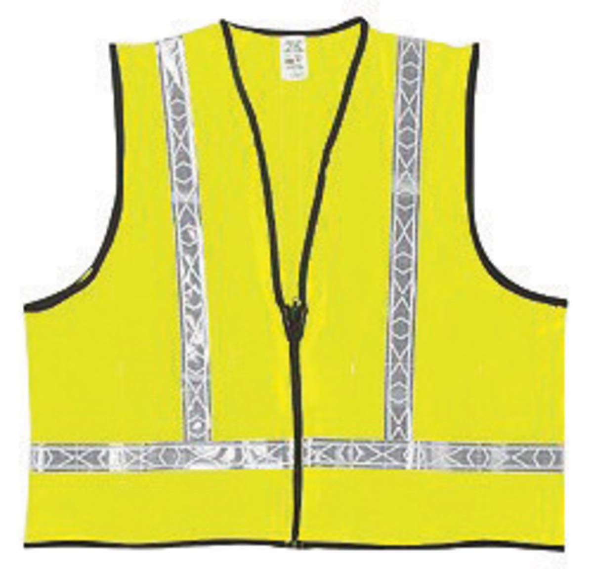 "River City Garments Large Hi-Viz Lime Haynes Polyester Class 2 Vest With Front Zipper Closure And 1 3/8"" White Reflective Tape And 2 Pockets - 50 Each/Case"