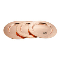 Wholesale beautiful 33cm stainless steel rose gold charger plates