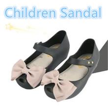 15 18cm Summer Mini Melissa Shoes Bow Princess Jelly Kids Sandals Children Beach Shoes Cute Cat