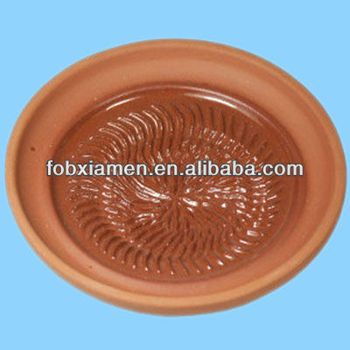 Customized Terracotta Garlic And Ginger Grater Plate