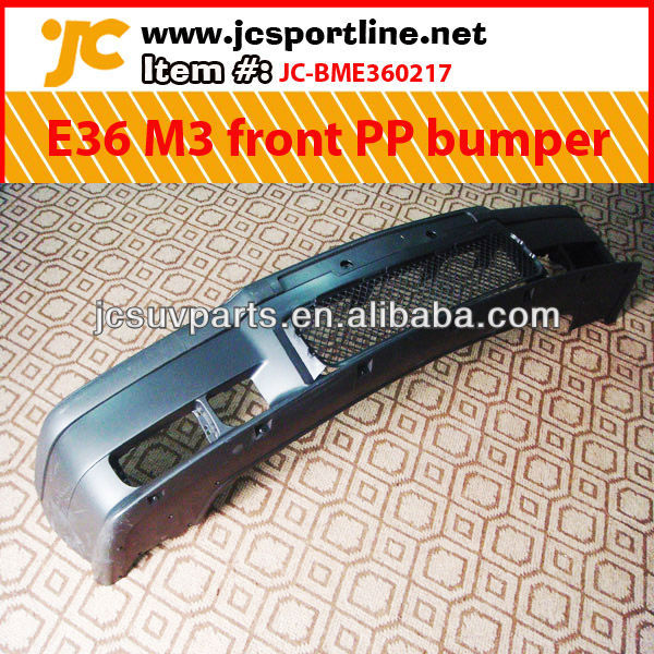 For BMW E36 M3 front PP bumper with fog lamp / car bumper kit