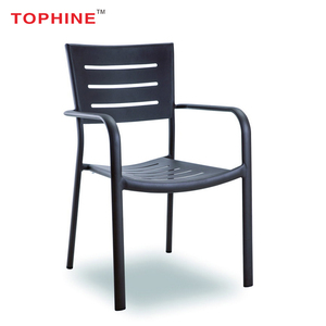 Commercial Contract TOPHINE Furniture Cheap Wholesale Modern Garden Outdoor Aluminium Metal Cafe Chairs