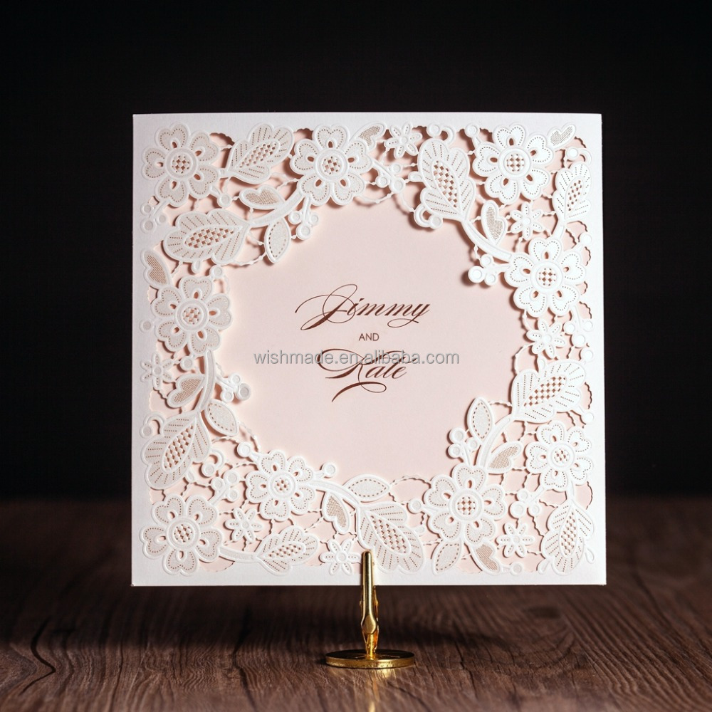 latest wholesale customized laser cut birthday /wedding greeting invitation card designs 2017 cw5197