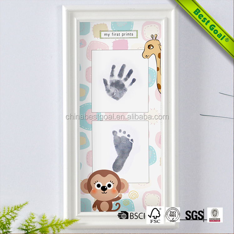Wholesale 2017 baby hand print and foot print photo frame