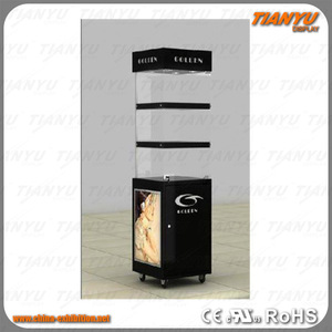 promotional stand makeup display