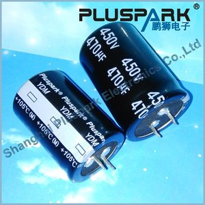 Snap In Electrolytic Capacitor 100uF 450V,power factor correction capacitor
