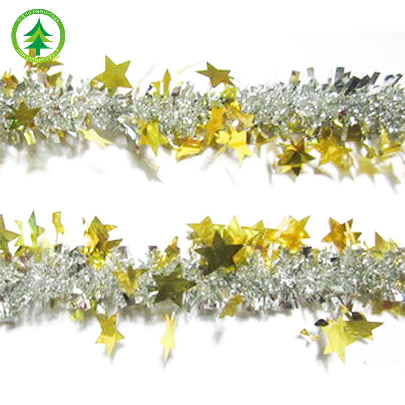 xibao brand 2017 Best seling colorful leaves machine christmas tree decorations tinsel garland