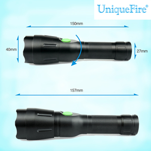 UniqueFire Zoomable usb flash drive super tiger tactical flashlights