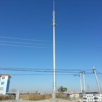45m Monopole Antenna Telecom Tower, View single pipe steel