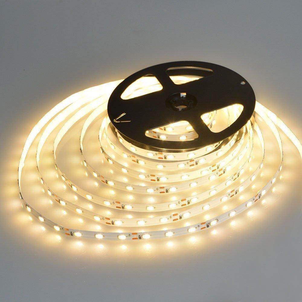 Aquiver 1M SMD 3528 60Leds Non Waterproof Flexible Warm White LED Strip Light( Warm White)