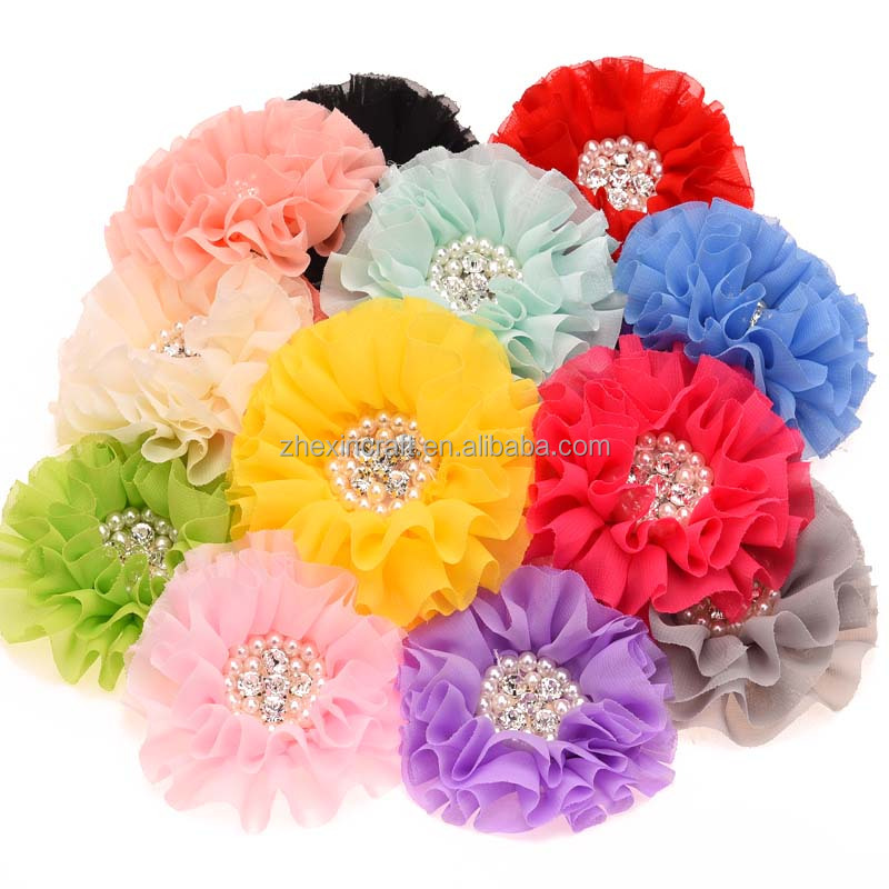 Fabric,fabric Material and Kids Type chiffon flower headband