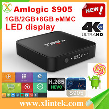 T95M Amlogic S905 Quad Core Smart TV Box With Xbmc Kodi Pre-installed Android5.1 System H.264 Wi-Fi LAN Miracast Airplay