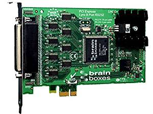 """Brainboxes Limited - Brainboxes Px-279 8-Port Multiport Serial Adapter - Pci Express X1 - 8 X Db-9 Male Rs-232 Serial Via Cable - Plug-In Card """"Product Category: I/O & Storage Controllers/Multiport Serial Adapters"""""""
