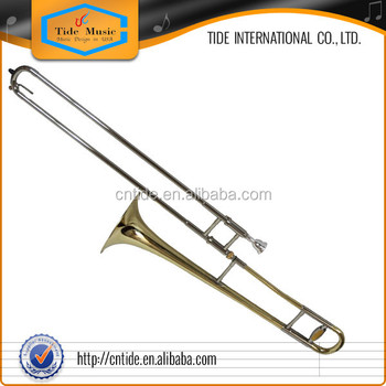 Popular grade alto trombone gold lacquer, Bb key, with fabric case