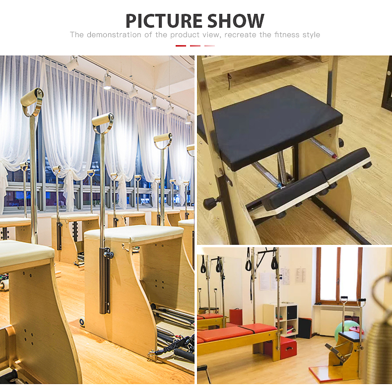 Pilates Reformer Machine Combo Chair with Handles Stability Chairs Wunda Chair Pilates Chair