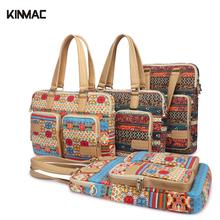 Kinmac 14 15 15.6 inch Shoulder Canvas Computer Laptop Bags Men Women Cover Case Briefcase Messenger Bag For Macbook Case Bag