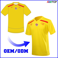 2017 cut and sewn men football jersey soccer team uniform set